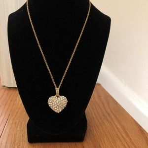 Monet Crystal Heart Necklace